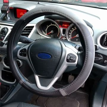 Original Steering Wheel Cover Black On Grey From Wear And Tear For Vauxhall